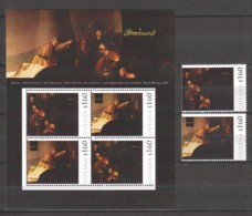 Guyana - MNH Sheet & Serie (5) PAINTING REMBRANDT - JUDAS, REPENTANT RETURNING THE PIECES OF SILVER(1629) - Rembrandt
