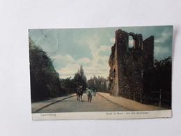GEKLEURDE POSTKAART ROUTE DU BOCK AFSTEMPELING LUXEMBOURG GARE HOLLERICH 1906 - Luxemburg - Stadt