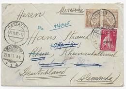 Portugal 1937 - Brief Nach Rastatt - Verschiedene Weiterleitungen / Aufkleber / Vermerke - Rücksendung An Absender - 1910 - ... Repubblica