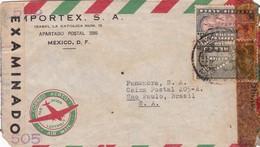 MPORTEX. MEXIQUE COMMERCIAL COVER CIRCULEE DE MEXICO DF A SAO PAULO, BRESIL CIRCA 1940's PAR AVION CENSURE -LILHU - Mexique