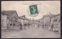 SAINT LEGER SOUS BRIENNE ( 10 - Aube ) La Grand Rue ( Animée , Personnes ) - TTB Etat - Autres Communes