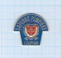Pin's Sapeurs Pompiers Loupian – 34 Hérault - Pompiers