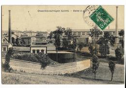 CHAZELLES-sur-LYON (42) Usine à Gaz Ed. Thoinet, Envoi 1910 - Sonstige Gemeinden