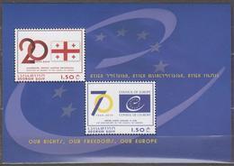 Georgia 2019 Mi# Bl 88 (733-734) 70th Anniversary Of The Council Of Europe * * - Georgia