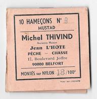10 Hameçons N° 9 - MUSTAD - Michel THIVIND 17, Boulevard Joffre 90000 BELFORT Montés Sur Nylon 18/100è - Pêche