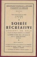 050520B - Programme 1942 Concert Gala Au Profit Des Réfugiés ALSACE LORRAINE à VICHY Fanfare 10e BCP - 1939-45