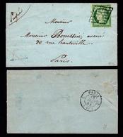 France N° 2 Obl. Grille - Signé Calves - Cote 1850 Euros - TTB Qualité - 1849-1850 Cérès