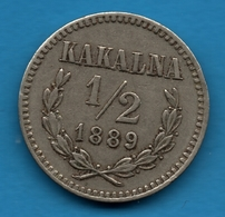 MEXICO  ½ Peso 1889 Kakalna FICHA CONVENCIONAL PARA LA FINCA DE DUARTE HERMANOS  TOKEN - Firma's