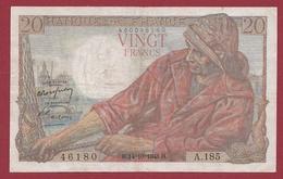 """20 Francs """"Pêcheur"""" Du 14/10/1948.H----TTB---ALPH .A.185---Numéro 46180 - 20 F 1942-1950 ''Pêcheur''"""