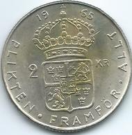 Sweden - 1965 - Gustav VI - 2 Kronor - KM827 - Suecia