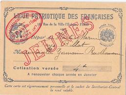 LIGUE PATRIOTIQUE DES FRANCAISES - Départ Haute-Marne  Action Sociale Catholique - Documents Historiques