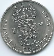 Sweden - 1971 - Gustav VI - 2 Kronor - KM827a - Sweden