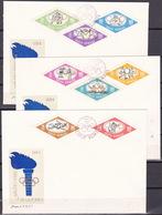 Romania, 1964, Tokio Olympics, Complete Set, Imperforated, On FDC - Estate 1964: Tokio