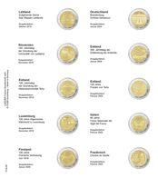 Lindner 1118-28 Vordruckblatt Für 2 Euro-Gedenkmünzen: Lettland 2019 Bis Frankreich 2020 - Zubehör
