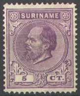 Suriname NVPH Nr 5 Ongebruikt/MH Koning Willem III 1873 - Surinam ... - 1975
