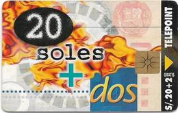 Peru - Telepoint - 20 Soles + Dos, 01.1998, 20.000ex, Used - Peru