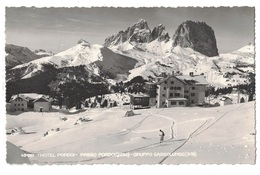 Cartolina CANAZEI Di Fassa Trento Trentino Alto Adige Viaggiata 1949 Edizioni Ghedina Passo Pordoi Sassolungo 031 - Trento