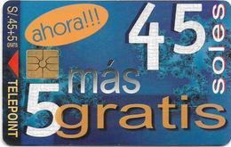 Peru - Telepoint - Ahora Gratis 45 Soles, 04.1998, 20.000ex, Used - Perú
