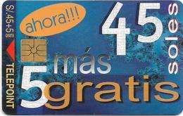 Peru - Telepoint - Ahora Gratis 45 Soles, 04.1998, 20.000ex, Used - Peru