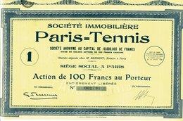 Société Immobiliè PARIS - TENNIS - Bank & Insurance