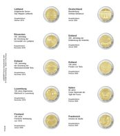 Printed Page For 2 Euro Commemorative Coin: Latvia 2019 Up To France 2020 - Zubehör