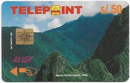 Peru - Telepoint - Machu Picchu Puzzle Piece 1/4 (Reverse 'Telecable'), 50Sol, 8.500ex, Used - Perú