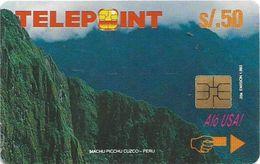 Peru - Telepoint - Machu Picchu Puzzle Piece 2/4 (Reverse 'Telecable'), 50Sol, 8.500ex, Used - Peru