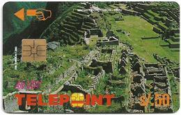 Peru - Telepoint - Machu Picchu Puzzle Piece 3/4 (Reverse 'Telecable'), 50Sol, 8.000ex, Used - Perú