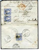 ESPAGNE 1871  LETTRE  MALAGA A  ANTIGNAC 3 X 50MILS N° 107     Ref LC32 - Cartas