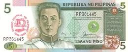 PHILIPPINES P. 177a 5 P 1989 UNC - Philippines