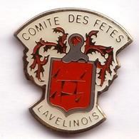 FF154 Pin's Village Comité Des Fêtes  Ban De Laveline Vosges écusson Blason Armoiries Achat Immédiat - Villes