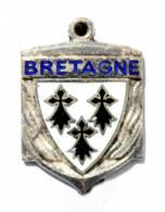 BROCHE (no Pin's) BRETAGNE - Ancre Et Blason Aux 3 Hermines - Voir Photos - J401 - Pin's