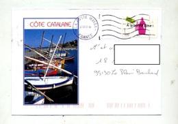 Lettre Flamme Muette Poste 16953A Illustré Cote Catalane - Mechanical Postmarks (Advertisement)