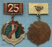 USSR / Badge / Soviet Union / UKRAINE. Veteran Of Labor 25 Years. Plant Lenin Forge Shipbuilding. Fleet. Kiev. - Administración