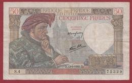 """50 Francs """"Jacques Coeur"""" Du 13/06/1940.D----TB---ALPH.S.4 - 1871-1952 Antiguos Francos Circulantes En El XX Siglo"""