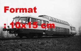 Reproduction D'une Photographie Ancienne Du RailCar Panoramique X4201 SNCF Construit Par Renault En 1959 - Reproducciones