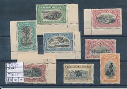 BELGIAN CONGO 1915 ISSUE COB 64/71 MNH - 1894-1923 Mols: Nuevos