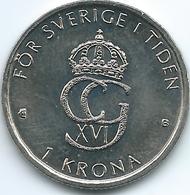 Sweden - 1 Krone - Carl XVI Gustaf - 2000 - KM897 - New Millennium - Suède