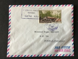 CAMEROUN 29/08/1960 5ème CONGRES FORESTIER INTERNATIONAL SEATTLE USA - Brieven En Documenten