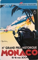 MONACO  -  Prepaid  -  4ème Grand Prix Historique De Monaco  -  Monaco Telecom  -  7,50 E. - Monace