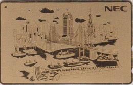 TC DOREE Japon / 110-170814 - NEC - BATEAU & PONT - SHIP BRIDGE & TOKYO TOWER Japan GOLD Phonecard - SCHIFF - 439 - Boats