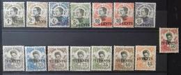 N° 72 à 84 + N° 76 A Et 81 A Avec 4 Fermé NEUFS * MH COTE 126 € (quelques Timbres Avec Petits Défauts) - Unused Stamps