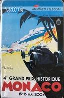 MONACO  -  Prepaid  -  4ème Grand Prix Historique De Monaco  -  Monaco Telecom  -  7,50 E. (neuve) - Monace