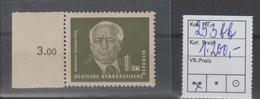 DDR PF/Besonderh.: Pieck 1 DM In Farbe Bb (253 Bb), **, Attest Mayer - [6] Democratic Republic