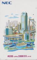 TC Japon / 110-138038 - NEC Série Peinture - BATEAU PONT & TOUR - SHIP BRIDGE TOWER - Japan Painting Phonecard - 06 - Boats