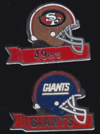 64791-Lot De 2 Pin's-Baseball.giants.49ers. - Honkbal