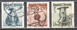Austria 1952 - Mi.978-80 - Used - 1945-.... 2de Republiek
