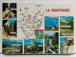 38 - LA CHARTREUSE - MULTIVUES - BLASON - CARTE GEOGRAPHIQUE - France