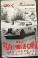 MONACO  -  Prepaid  -  VII Rallye Monte-Carlo  -  Monaco Telecom  (Neuve) -  7,50 E. - Monace