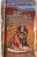 MONACO  -  Prepaid  -  28e Festival Cirque  -  Monaco Telecom  (Neuve) -  7,50 E. - Monace